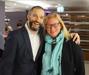 Fred Sirieix with Inox Staff