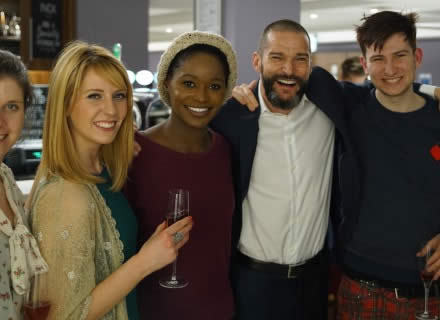 Fred Sirieix with University of Sheffield students at our Dine and Date event