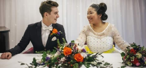 Newlyweds at Inox - Sheffield Wedding Venue
